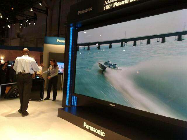 Un écran plasma impressionnant chez Panasonic